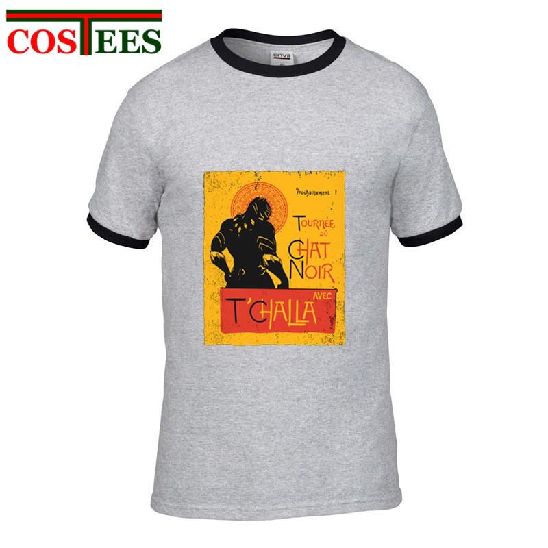 designer fashion discount designer fashion Vintage Le Chat Noir T-shirt homme Black Pather T Shirt men Retro Tshirt  Newest