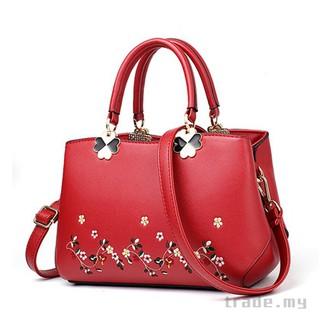 c0725e0b85bd Luxury Flower embroidered Bags Designer Handbags Women Shopper Bag ...