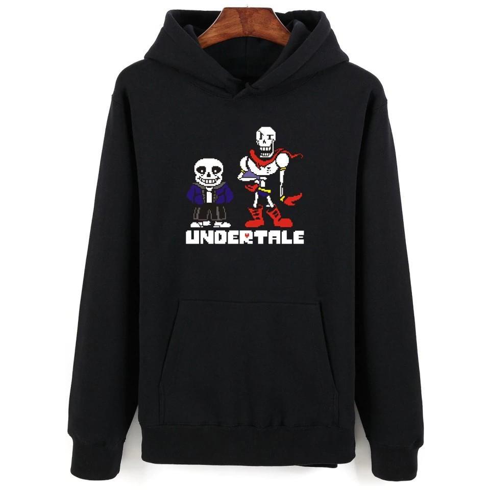 Game Undertale Design Hoodie Men /Clothing Skulls Pattern Hoodies  Sweatshirt Men Sans And Pa Or Diy Printing