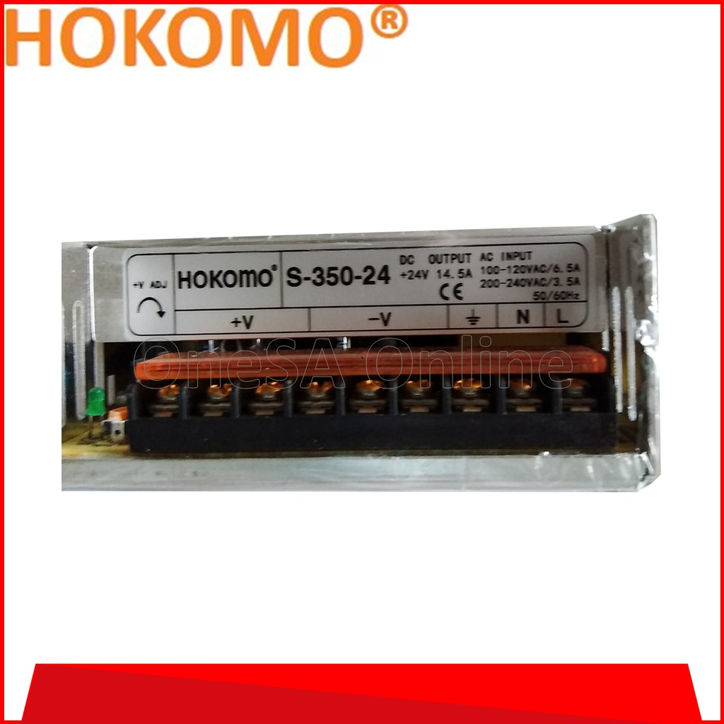 Electrical Equipment ~ HOKOMO POWER SUPPLY, 24VDC ~ 14.6A, (S-350-24) ~ Industrial Equipment