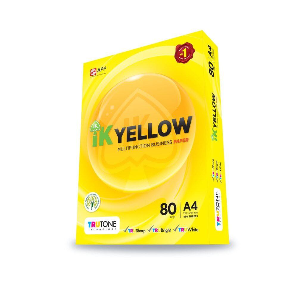 IK Yellow 80g A4 Paper - 450's