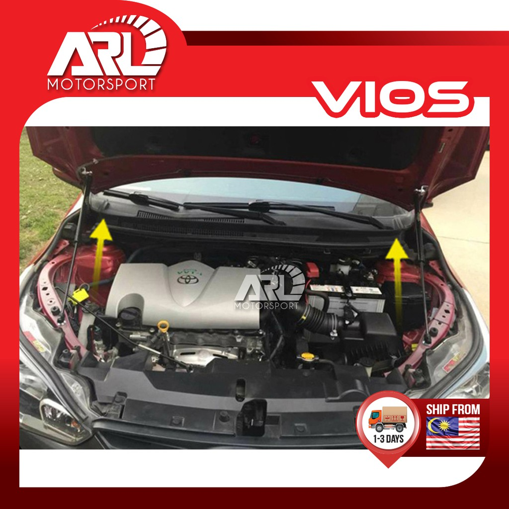 Toyota Vios (2013-2018) NCP150 Front Bonnet Hydraulic Car Auto Acccessories ARL Motorsport