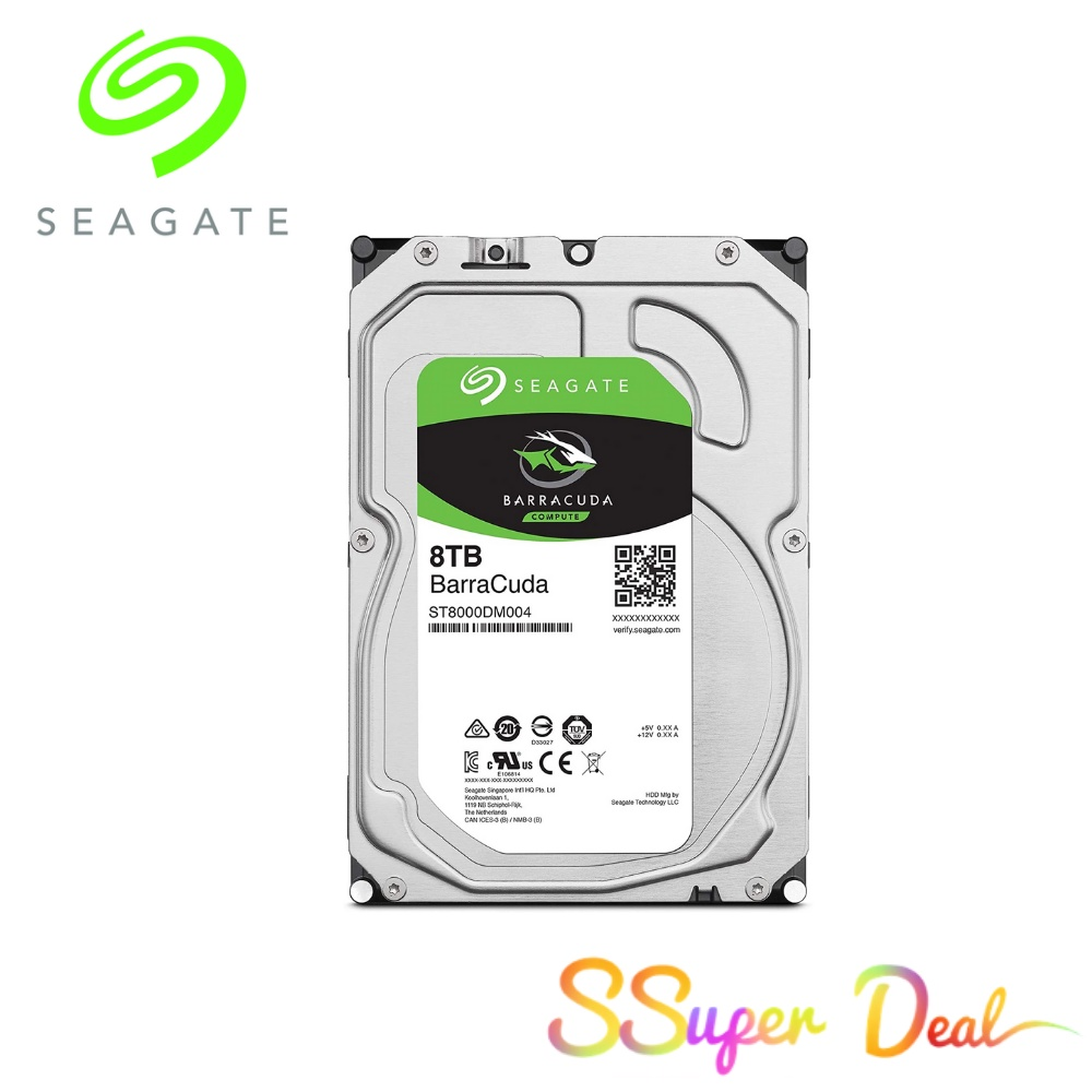 Seagate BarraCuda 8TB Internal Hard Drive HDD – 3.5 Inch Sata 6 Gb/s 5400 RPM 256MB Cache for Computer Desktop PC