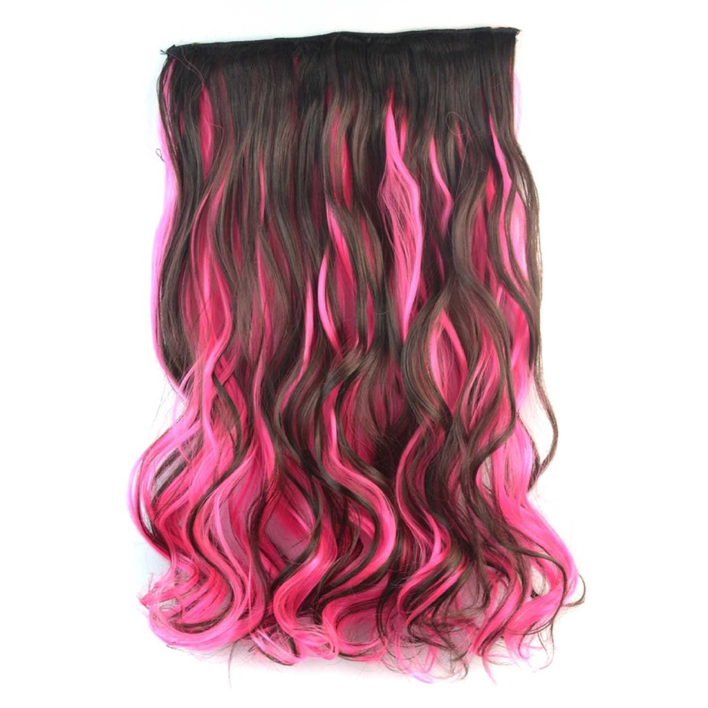 High Temperature Fiber Curly Fake Hair Synthetic Clip in Hair Extensions Full Head Clip in Synthetic Hair for Women (2)