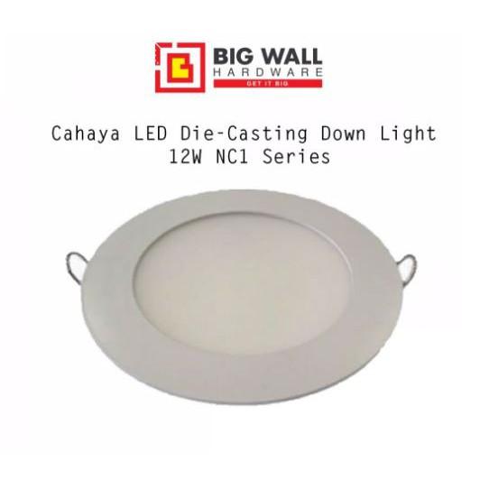 Cahaya LED Die-Casting Downlight 12/18W NC1 Series Round Warm White 3000k,Cool White 4000k, Cool Daylight 6500k 180x30mm