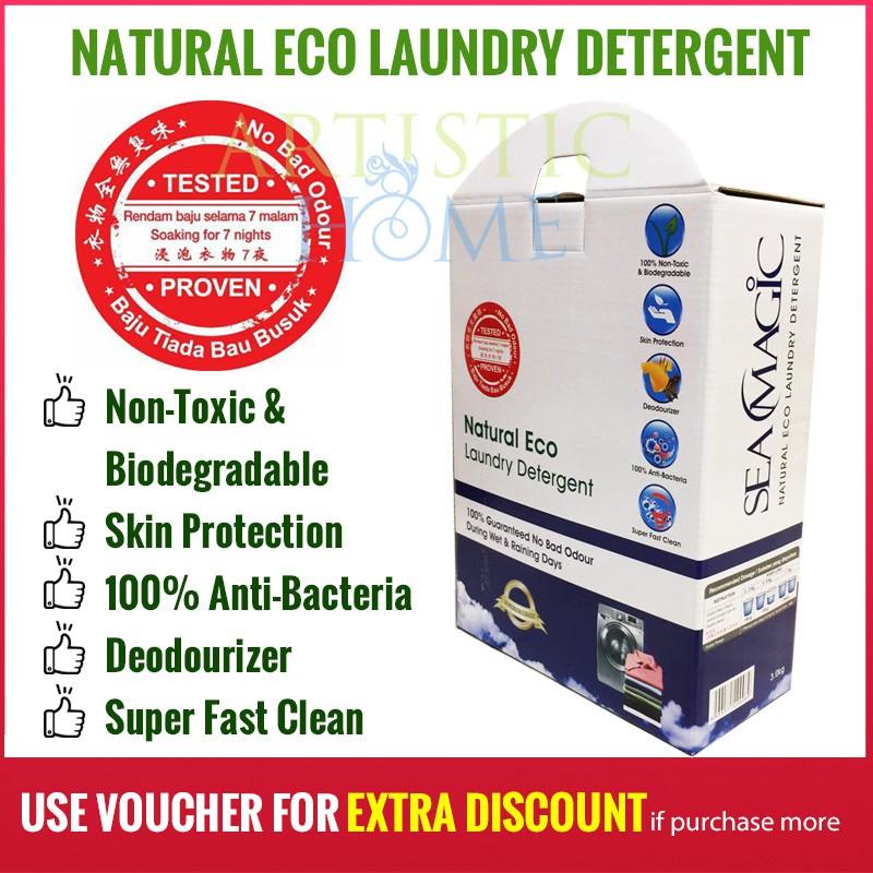 Sea Magic Natural Eco Powder Laundry Detergent 3kg