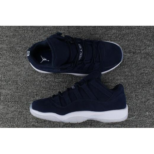 Derek Jeter Air Jordan 11 Low RE2PECT Navy Blue Suede