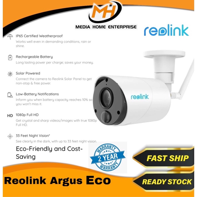 Reolink Argus Eco 1080P  (2.4Ghz)