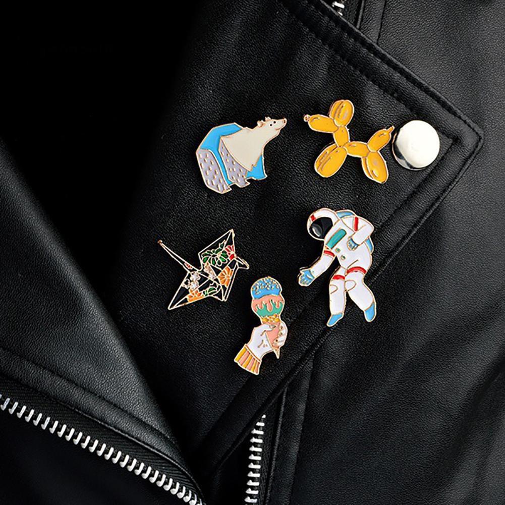 4e228bc257 YAR_Lovely Alloy Brooch Pin Ice Cream Polar Bear Astronaut Crane Enamel Hat  Jewelry
