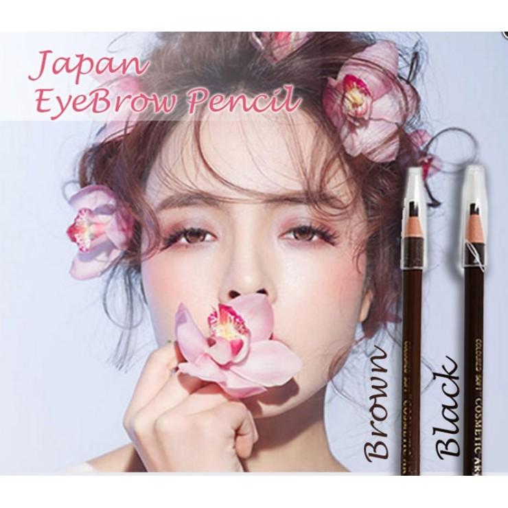 ?M\'SIA STOCK] Japan Eyebrow Pencil ( MEISHOKU )- Alat Melukis Kening Mudah