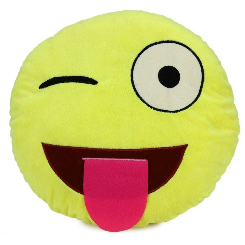Cute 33cm Emoji Smiley Emotion Plush Cushion Pillow Doll Toy