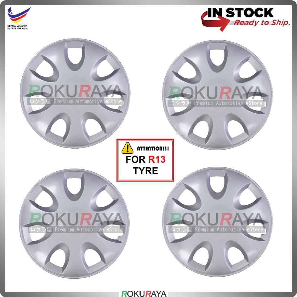Universal R13'' Inch Car Wheel Cover Tyre Center Hub Cap Steel Rim (Saga BLM FLX Design)