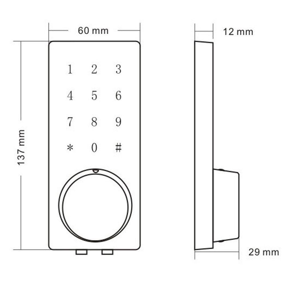 Bluetooth Smart Digital Door Lock Keyless Touch Password