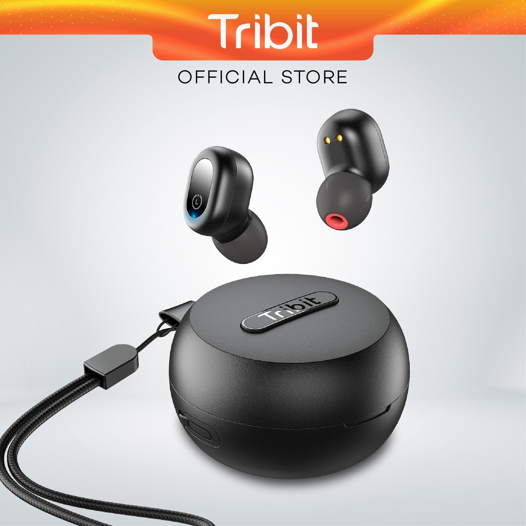 Tribit Flybuds 1 True Wireless Stereo Earbuds, Explosive Bass, Bluetooth 5.0, Type C Charging