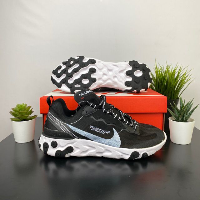 💥READY STOCK💥Nike React Element 87 Black White Nike running shoes Premium