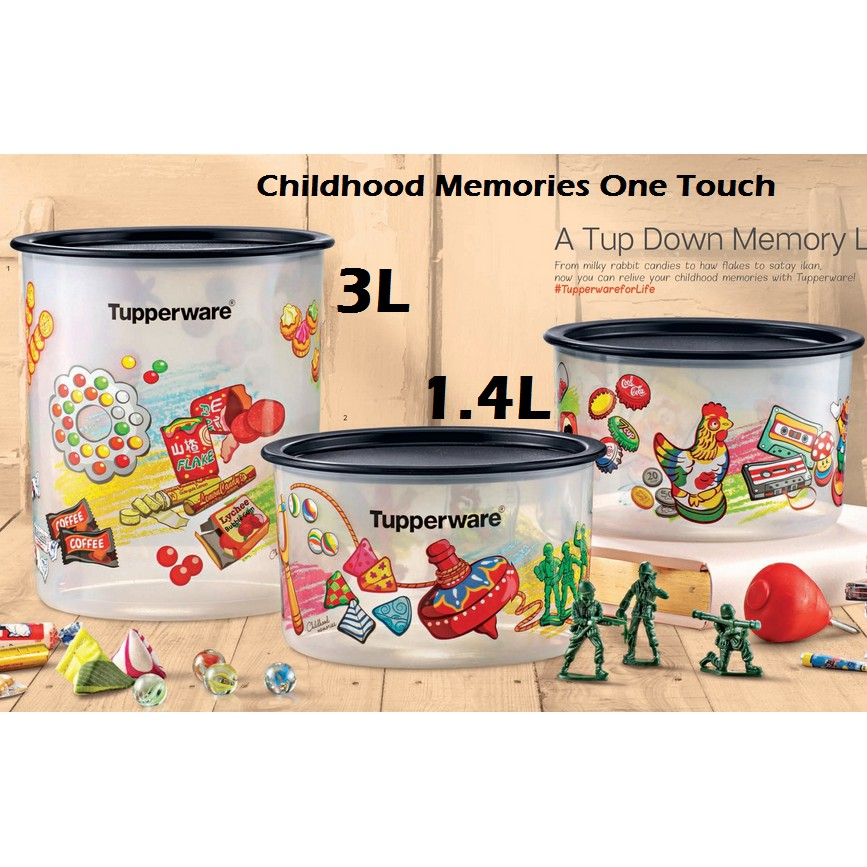 Tupperware Childhood Memories One Touch Set 1 4L,3L OT Limited Edition
