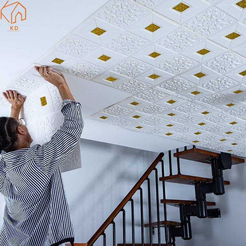 3D three-dimensional wall stickers self-adhesive wallpaper ...