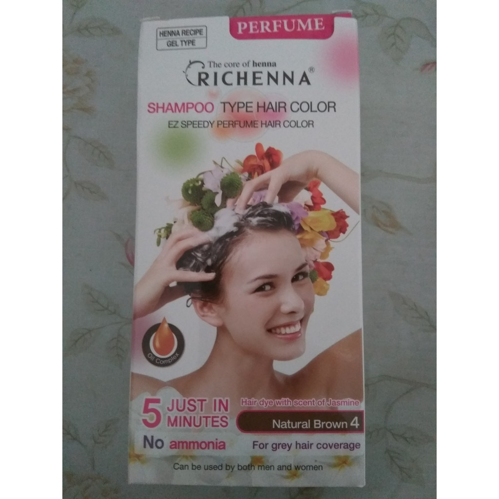 Richenna Perfumed Hair Dye Shampoo Type Hair Color Ez Speedy