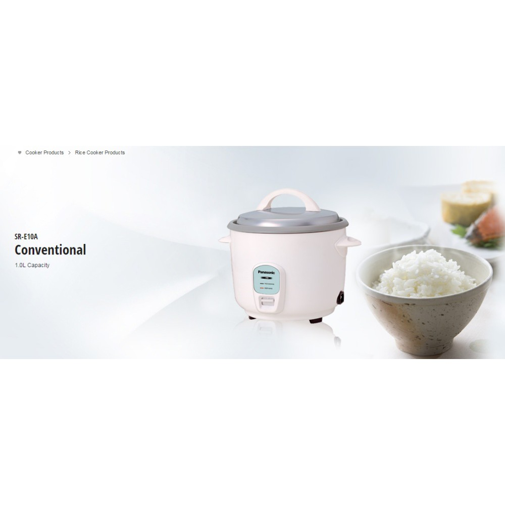Original Panasonic SR-E10 (1.0L) Rice Cooker