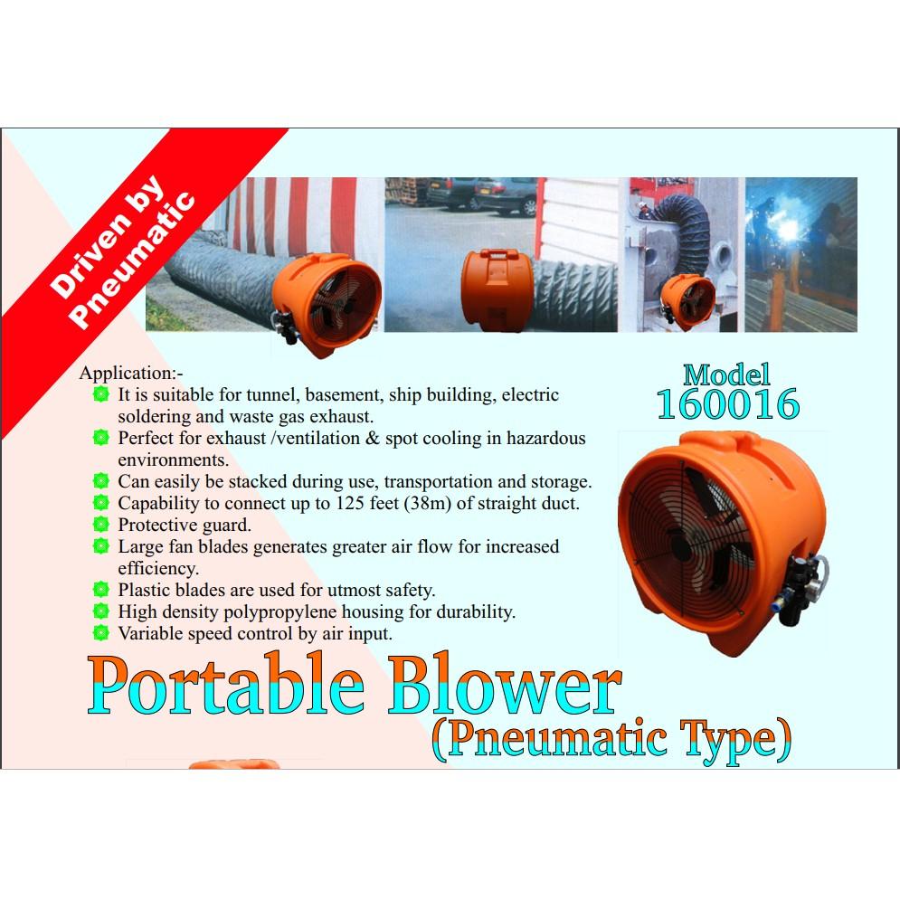 "MODEL 110012 160016 12"" 16"" PNEUMATIC AIR PORTABLE BLOWER"