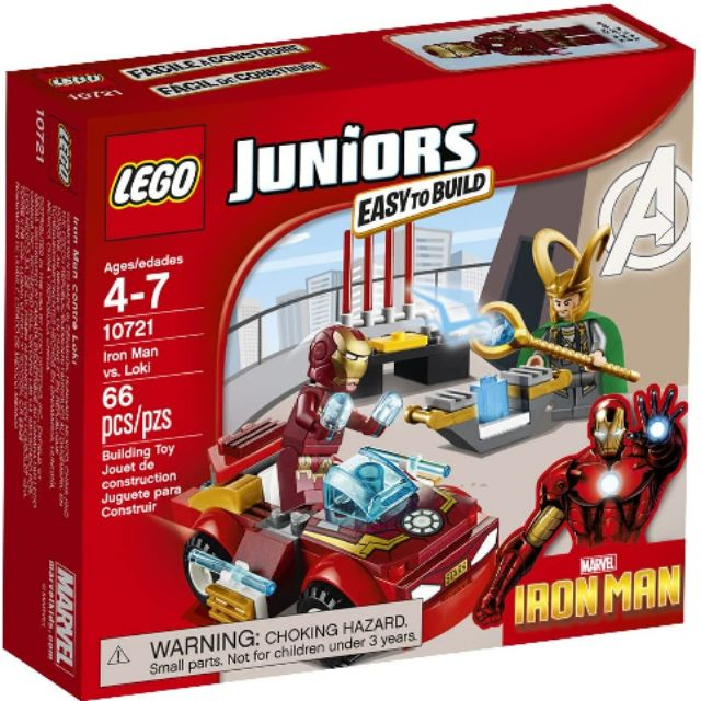 Lego Juniors Marvel Super Heroes Iron Man Vs Loki 10721
