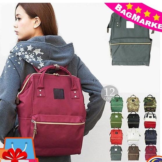 Japan Anello Rucksack Canvas Backpack Waterproof Travel Rucksack School Bag