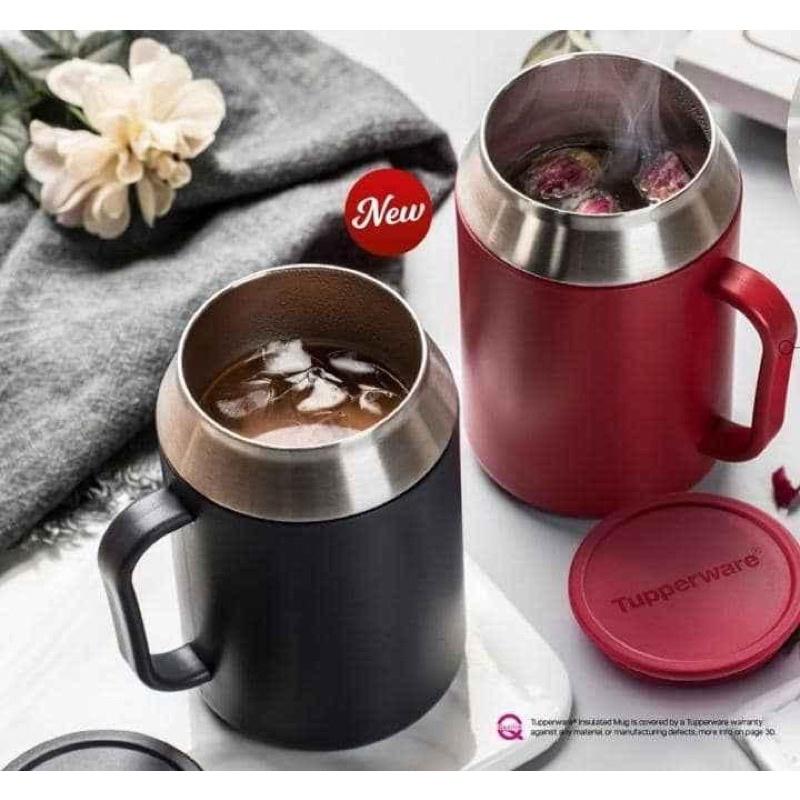 Original Tupperware Insulated Mug  (1) 400ml/ Red or Black/flask thermal