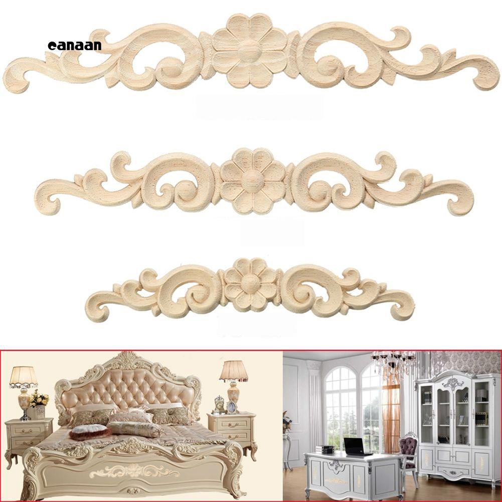 Elegant European style Wood Carved Corner Onlay Applique Furniture Cabinet Decor