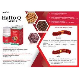 CORLIVE HATTO Q 30 CAPSULES (Natto + Red Yeast Rice + Grape Seed)