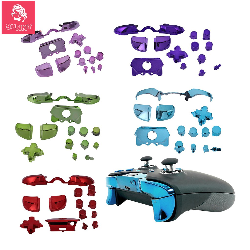 Full Set Game Controller Bumper Triggers Buttons Replacement Accessories  For Xbox One Elite D-Pad Lb