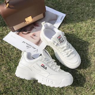 Najlepiej nowy styl życia na stopach zdjęcia Fila Disruptor 2 Sport Runing Shoes Low Flats Women Shoes Casual White  Sneaker