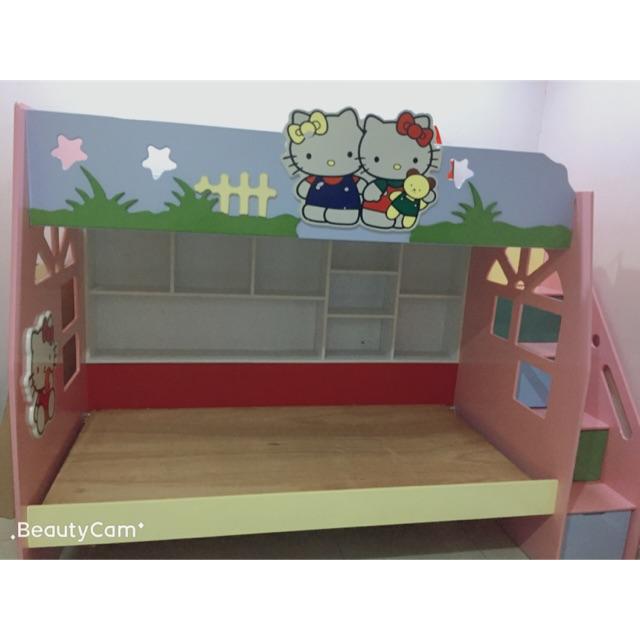 Bunk Bed Frame 床架双层hello Kitty Shopee Malaysia