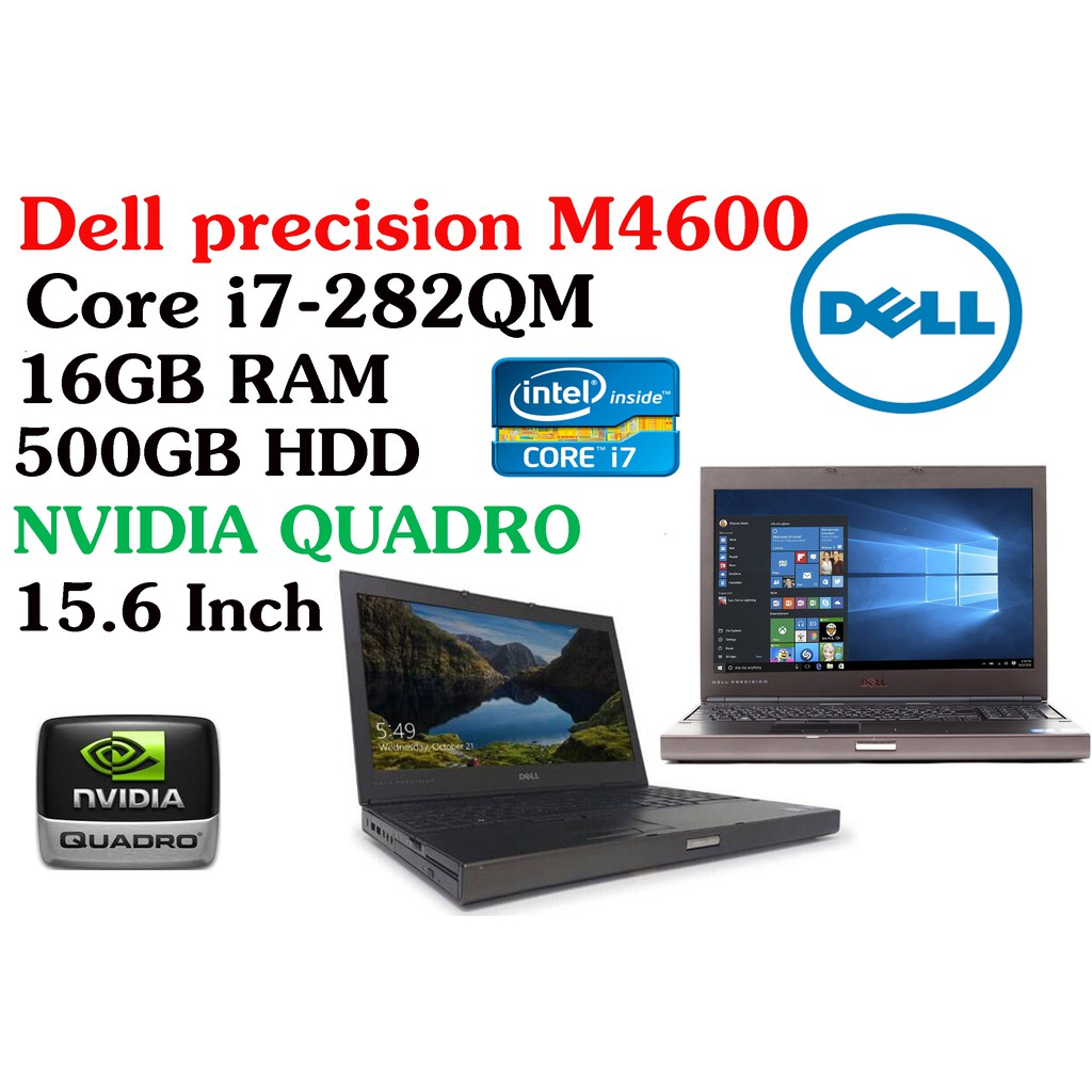 Workstation Dell precision M4600 Intel Core i7-282QM 16GB RAM 500GB HDD  NVIDIA QUADRO 15 6 Inch