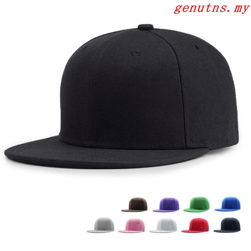 673a0cc9 Full Cap Plain, Flat-brimmed, All Sizes, Multiple Color | Shopee Malaysia