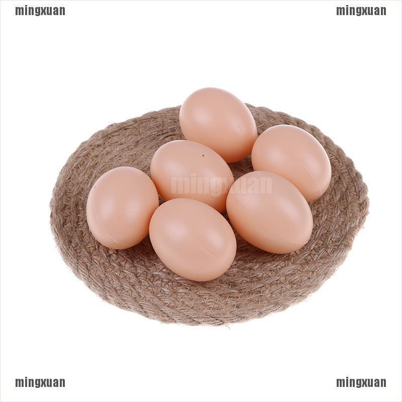 5Pcs Fake Dummy Simulation Hen Egg Poultry Kids Joke Prank Christmas Home Decor