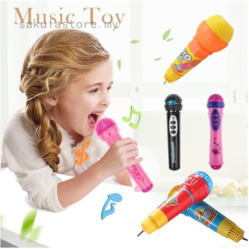 Creative Echo Microphone Mic Voice Changer Baby Kids Funny Birthday Toy Gift