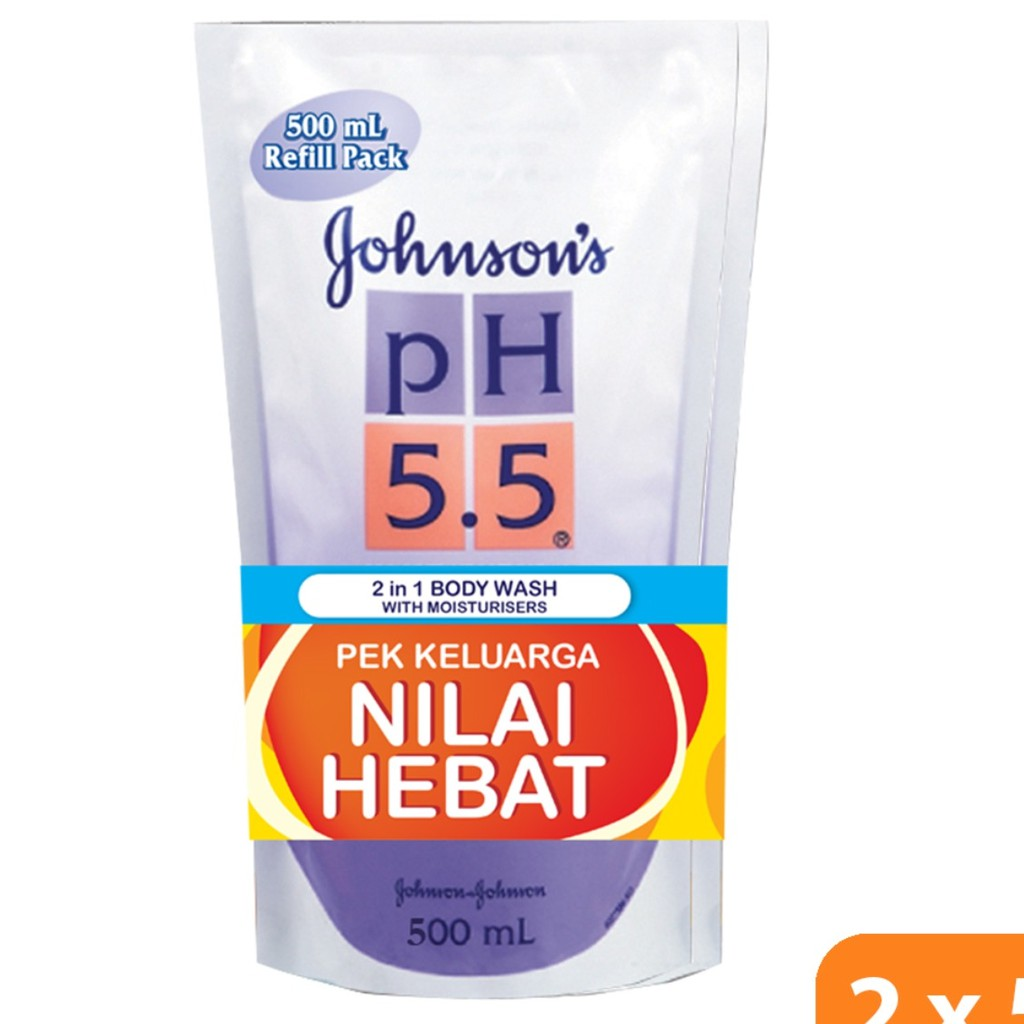 Johnson\'s PH5.5 2in1 Body Wash with Moisturizers 500ml (Refill Twin Pack)