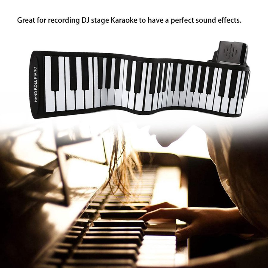 ▲88 Keys Folding Silicone Hand Roll Electronic Organ Audio Mixing Mixer  Console