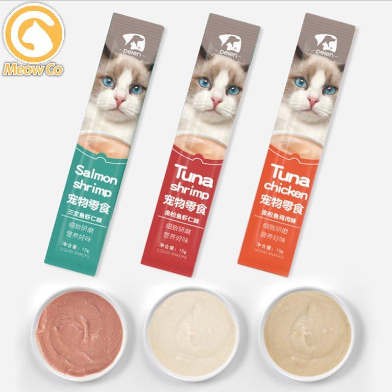 Cat Wet Food Snack Stick Creamy Treat | Makanan Basah Snek Ringan jajan Kucing