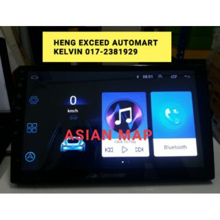 Asian Map D2-1001 IPS 2 5D 10 1 Inch OEM Andriod Player Online TV Astro 4G  Wifi