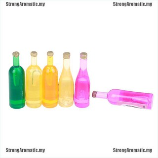 4Pcs 1:12 Dollhouse mini pink drinks bottle for doll house decoration  FH