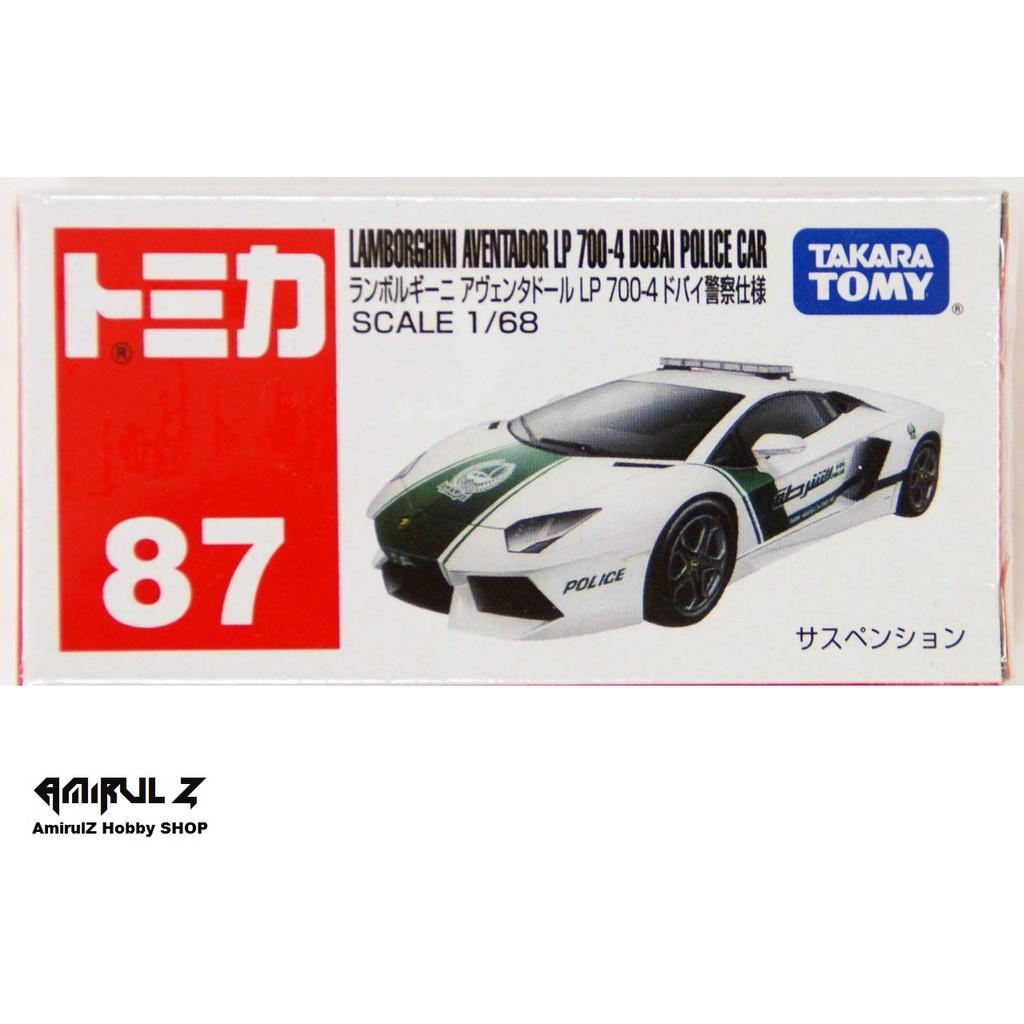 Takara Tomy Tomica Lamborghini Aventador Lp 700 4 Dubai Police Car