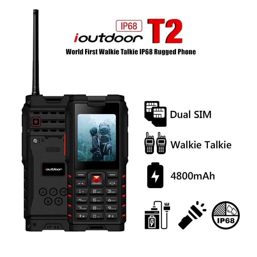 IOUTDOOR T2 UHF IP68 Waterproof Walkie Talkie Mobile Phone
