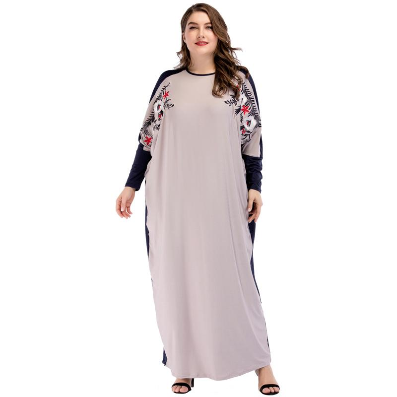 a9da9a7ab3e Muslim Abaya Knitted Maxi Dress Cardigan Loose Plus Size Kimono Long  maternity