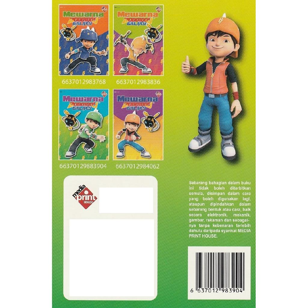 Toad Mewarna Boboiboy Galaxy Buku 3
