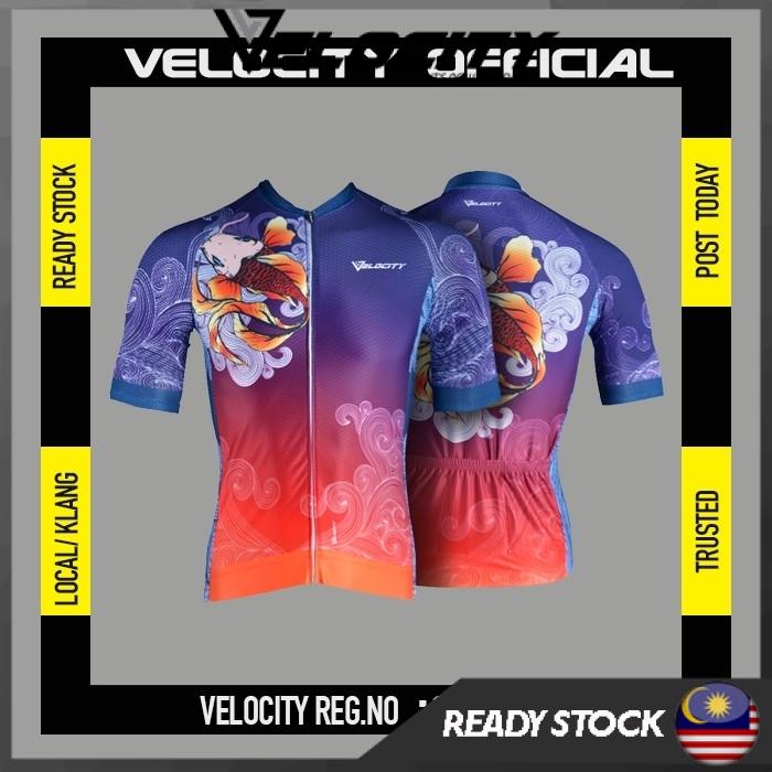 [READY STOCK]Velocity Men Short Cycling Jersey Koi