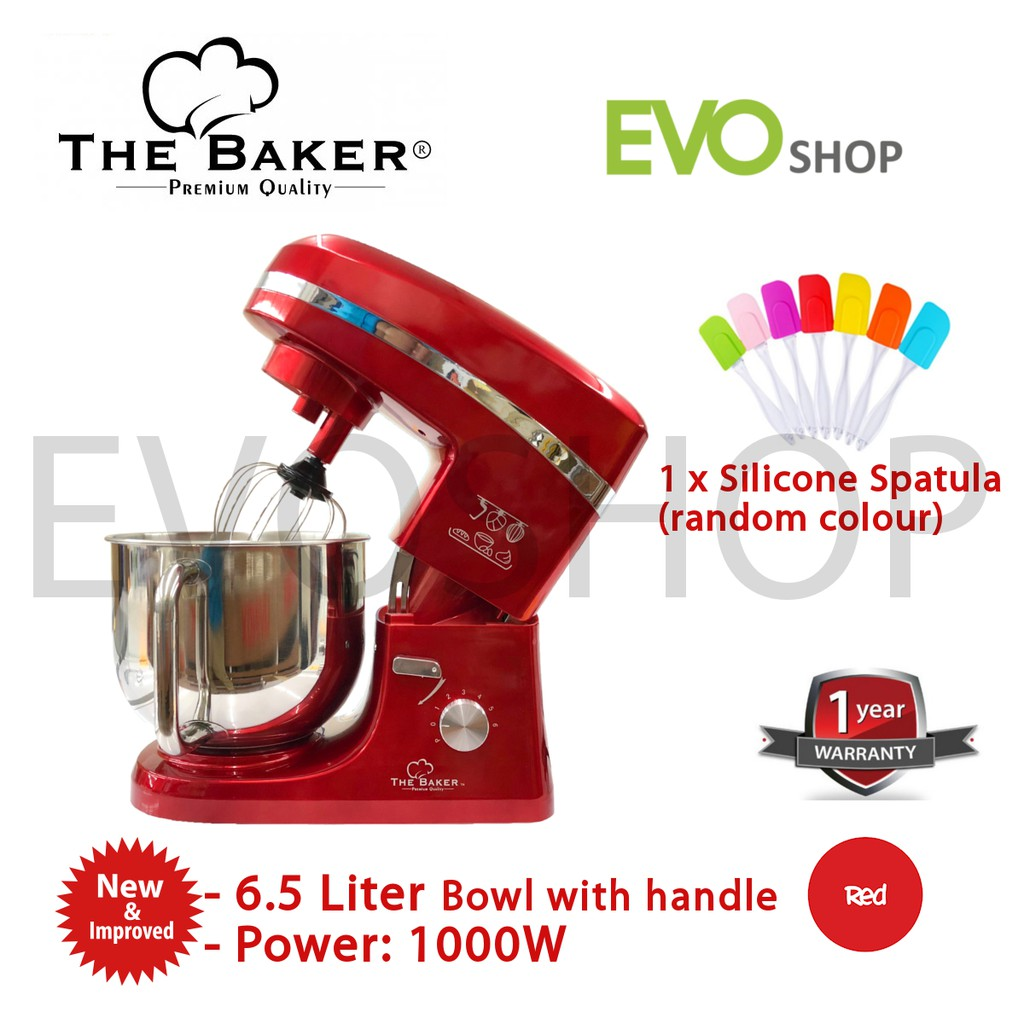 The Baker Stand Mixer 6 5l 1000w Red Esm 989 Pengadun