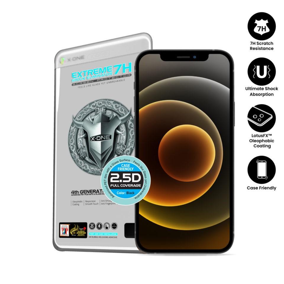 X.One 7H Clear Fullscreen iPhone X/Xs/11 Pro,Xr/11,Xs Max/11 Pro Max,12 Mini/Pro/Pro Max 4th Gen Extreme Xone Tinted