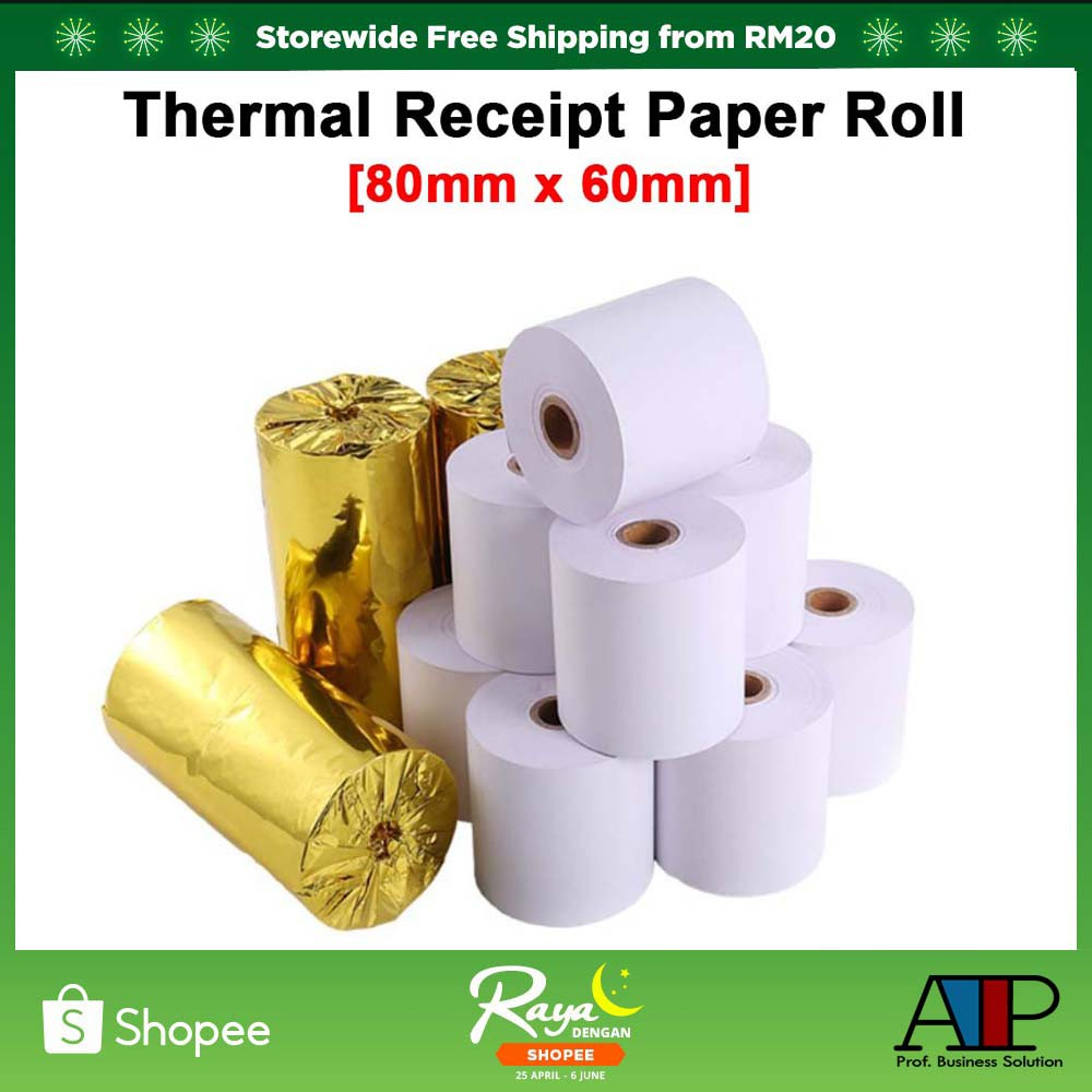 Thermal Receipt Paper Roll 80*60mm SRS Topup POS