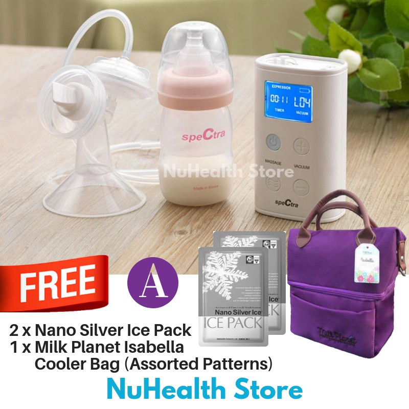 Spectra 9 Plus Double Breast Pump + 2 Ice Pack + 1 Cooler Bag (2 Years Warranty)